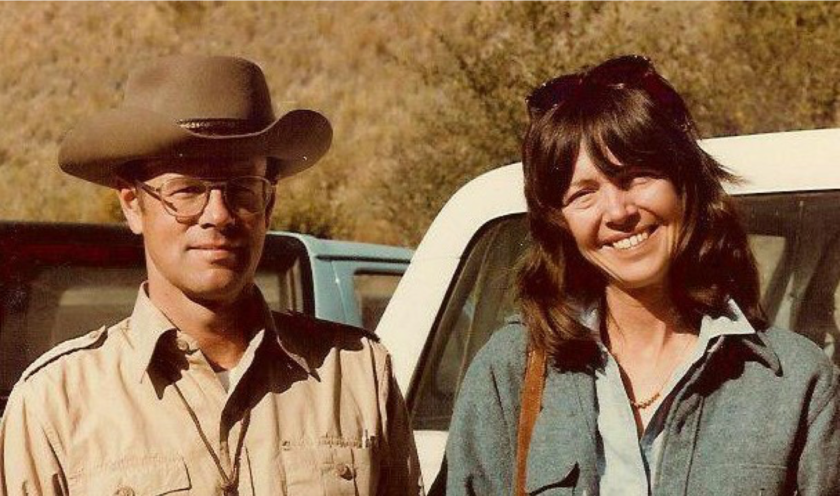 Chuck and Nancy Naeser in the field, New Mexico, 1983.